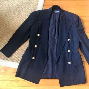 Ralph Lauren Navy Double Breasted Blazer